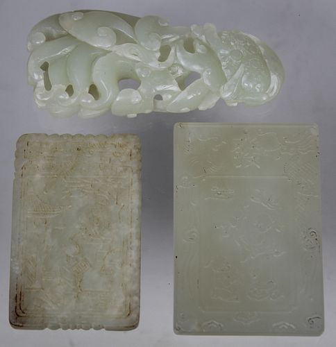 (3) Carved Chinese Jade Articles
