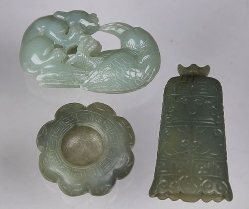 (3) Chinese Carved Jade Articles