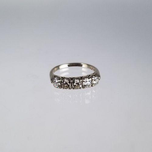14K White Gold Multi-Stone Diamond Ring