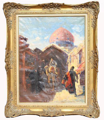 Orientalist Style Street Scene With Figures