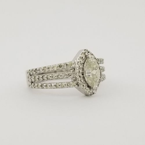 14K White Gold & Diamond Marquise Ring