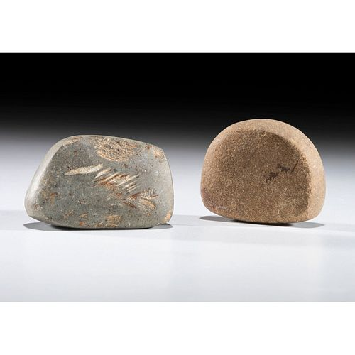 A Pair of Loafstones, Largest 2 in.