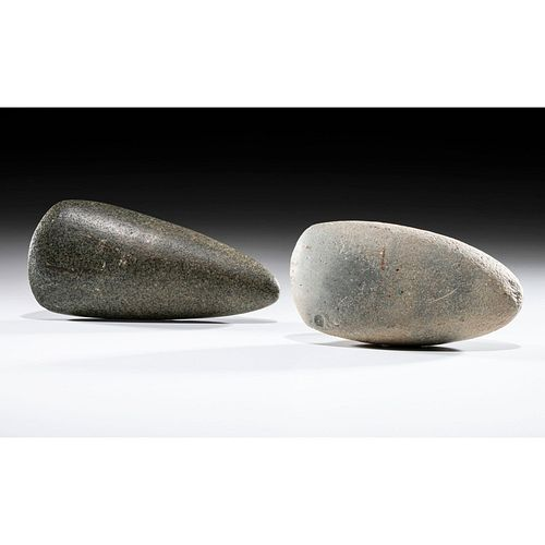 A Pair of Granite Adzes, Largest 5-1/2 in.