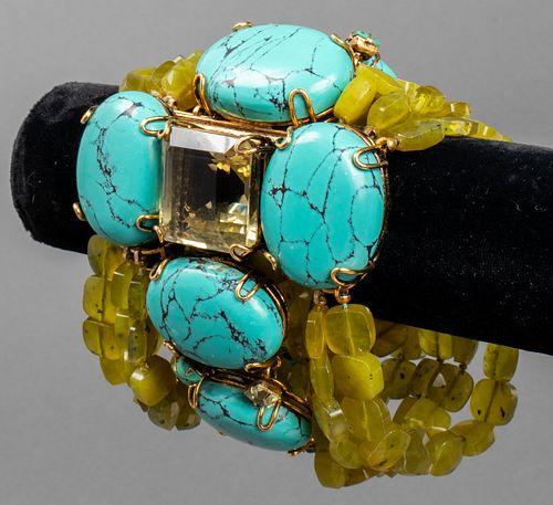 Iradj Moini Turquoise & Colored Stone Bracelet