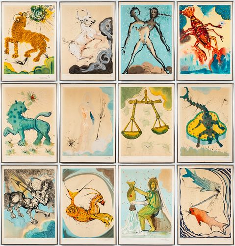 "Salvador Dali ""The Twelve Signs of The Zodiac"""