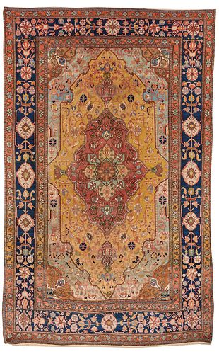 Exceptional Mohtasham Kashan Rug, Persia, ca. 1875; 8 ft. 3 in. x 5 ft. 2 in.