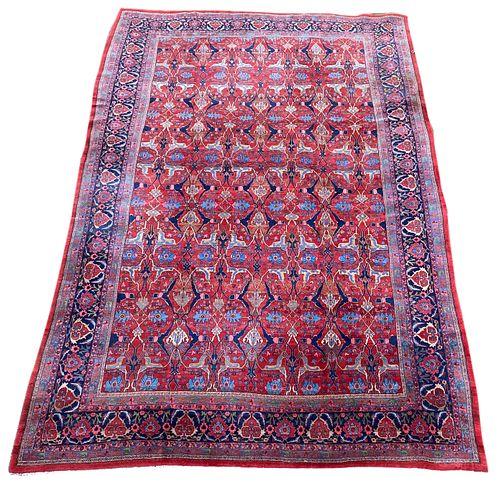 Bidjar Carpet, Persia, ca. 1900; 18 ft. 7 in. x 12 ft. 4 in.