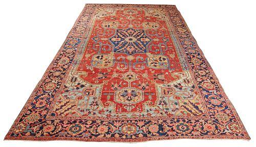 Heriz Carpet, Persia, last quarter 19th century; 18 ft. 11 in. x 11 ft. 4 in.