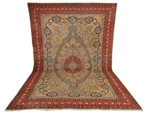 Fine Mohtasham Kashan Carpet, Persia, last quarter 19th century; 15 ft. 8 in. x 10 ft. 6 in.