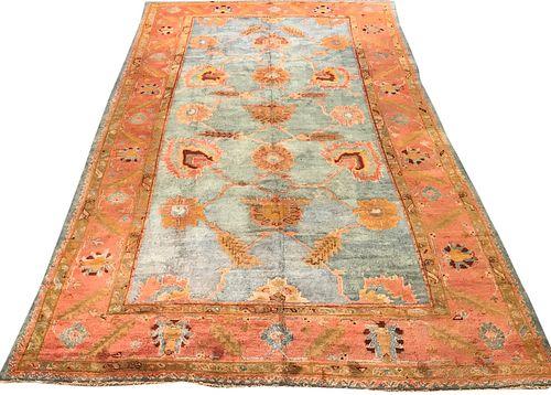 Oushak Carpet, Turkey, last quarter 19th century; 16 ft. 6 in. x 10 ft.