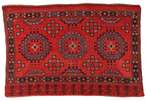 Rare and Exemplary Salor Chuval, Turkestan, ca. 1800; 4 ft. 6 in. x 3 ft. 1 in.