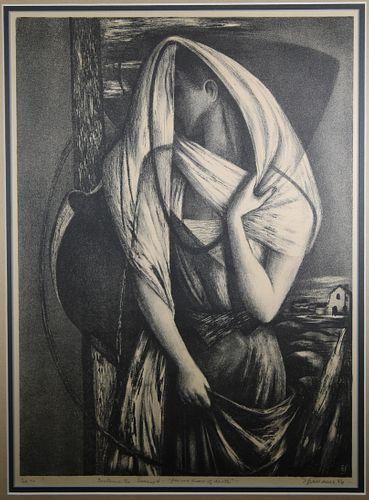 """Benton Spruance (1904-1967) """"Ecclesiastes 4"""""""