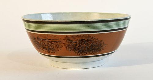 Early Mocha Seaweed Pattern Bowl