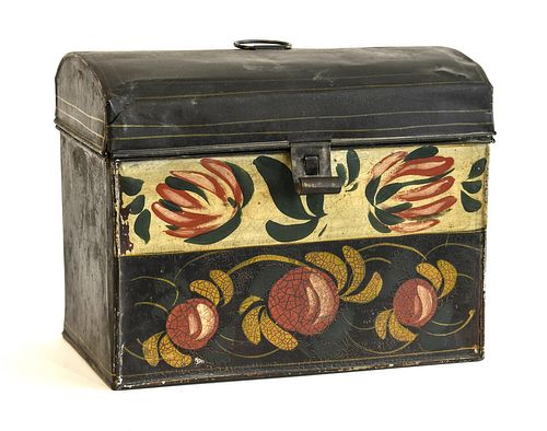 Large Tole Decorated Document Box