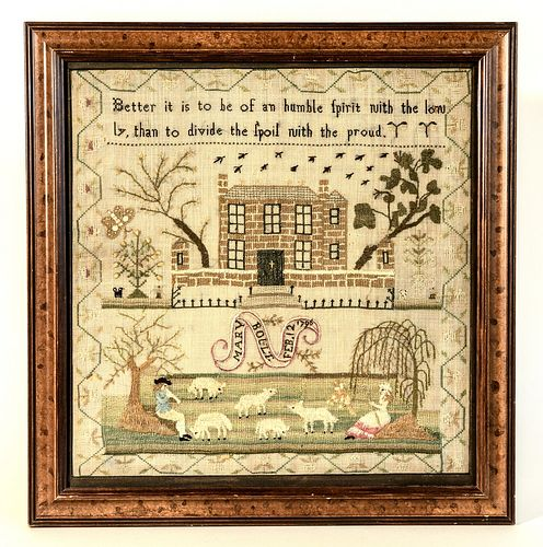 Needlework Sampler - Mary Bollt - 1796