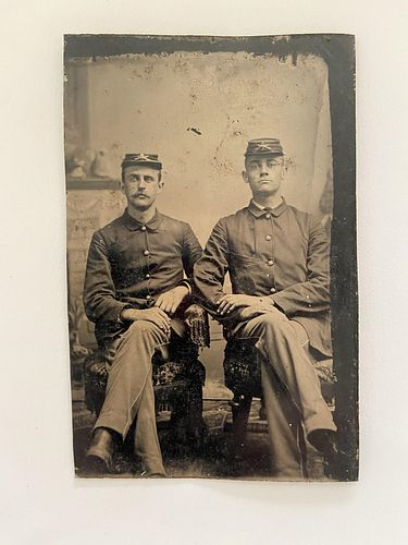 Civil War Tintype with Currency Notes