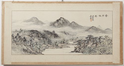 Two Antique Chinese Paintings on Paper