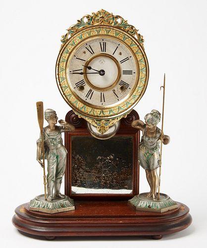 Ansonia Clock with Oarsman