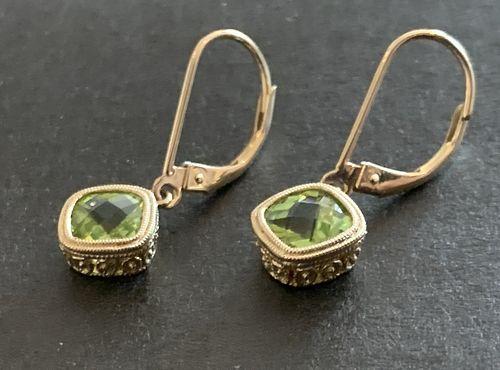 Earrings 14K with Peridot