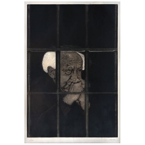 "RAFAEL CAUDURO, Untitled, Signed, Etching and aquatint a la poupeé 1 / 100, 24 x 16.1"" (61 x 41 cm)"