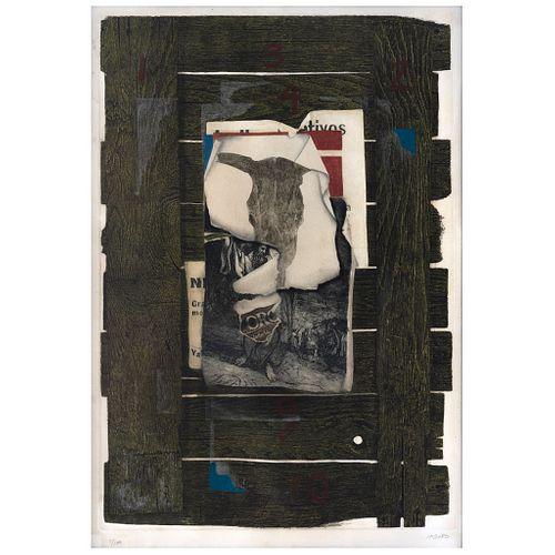 "RAFAEL CAUDURO, Las Tablas de la Ley, SIgned, Etching and aquatint 1 / 100, 24 x 16.1"" (61 x 41 cm)"