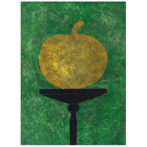 "RUFINO TAMAYO, La calabaza, 1984, Signed, Etching 27 / 99, 29.9 x 21.6"" (76 x 55 cm)"