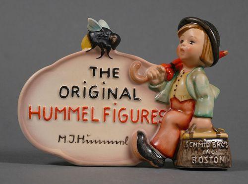 Rare Hummel DEALER'S PLAQUE Schmid Bros. 210 TMK2