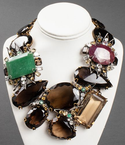 Iradj Moini Ruby, Aventurine & Quartz Necklace