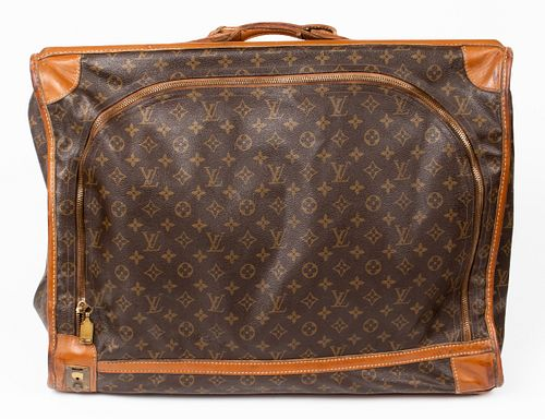 Vintage Louis Vuitton Canvas & Leather Garment Bag