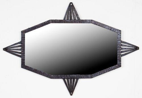 Edgar Brandt Attr. Art Deco Wrought Iron Mirror