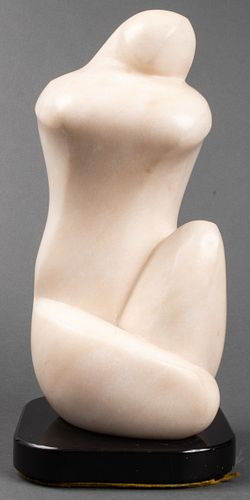 Lilly M. Tussey Modern Carved Marble Sculpture
