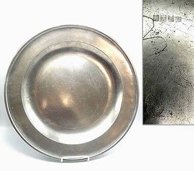 """English Pewter Dish, 16-1/2"""""""