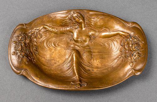 Jugendstil Art Nouveau Bronze Vide Poche