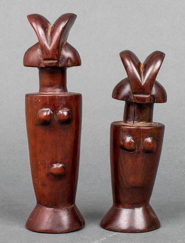 African Zaramo Mwana Hiti Figures, Tanzania, 2