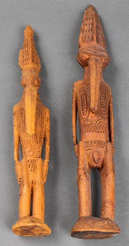Papua New Guinea Carved Spirit Figures, 2