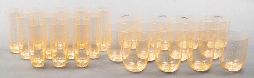 Nason Moretti Murano Aventurine Glasses, 23 Pcs.