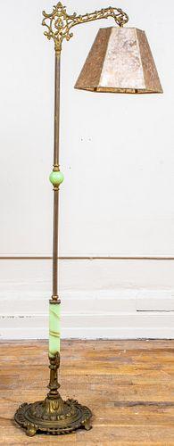 Renaissance Revival Gilt Metal Floor Lamp