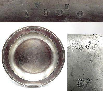 """English Pewter Dish, 11-3/4"""""""