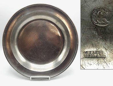 """American Pewter Plates, 13"""""""