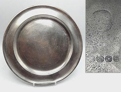 """American Pewter Plates, 12"""""""