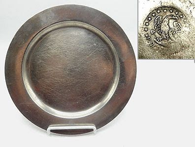 """9 3/4"""" Pewter Plate by Parks Boyd"""