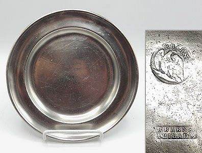 """American Pewter Plates, 7-3/4"""""""