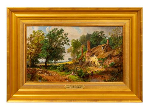 JASPER F CROPSEY, HUDSON RIVER SCHOOL PAINTER