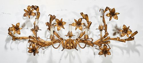 Gilt Metal Five-Light Sconce