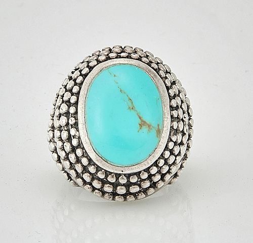 Native American Turquoise and Silver Ring