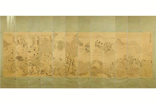 12 Pieces of Chinese Figure Paintings, Zhang Daqian Mark