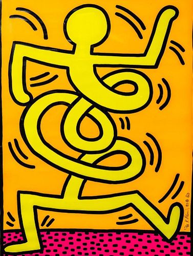Keith Haring Screenprint double Signed and numbered
