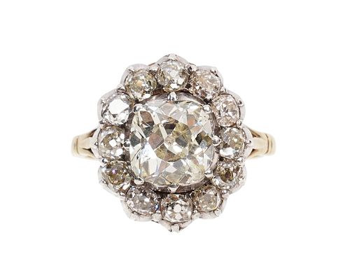 Antique Victorian Diamond Halo Ring
