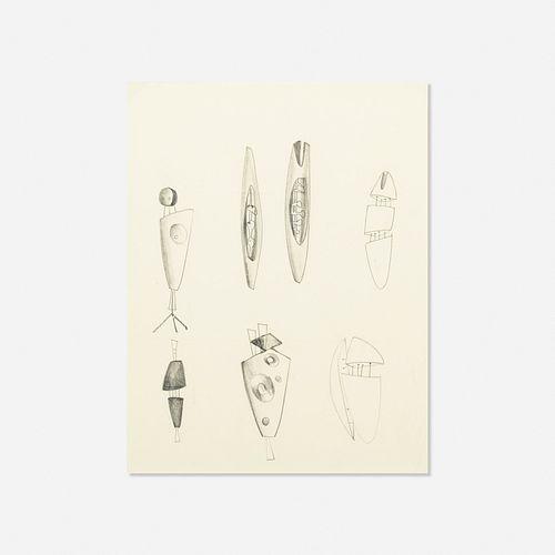 Harry Bertoia, Untitled (Jewelry Studies)