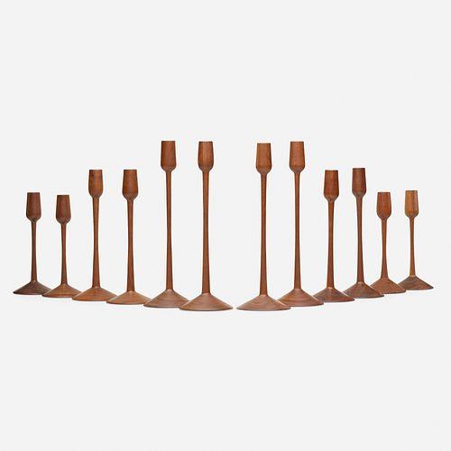 Herbert Simonson, Collection of twelve candlesticks
